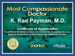 Most Compassionate Doctor Award in 2013
